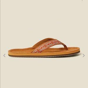 Fat Face somerton suede flip flops size 6